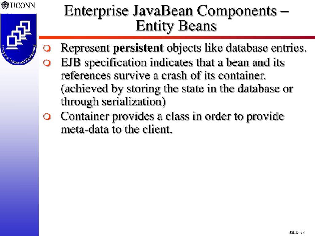 Enterprise JavaBean Components –