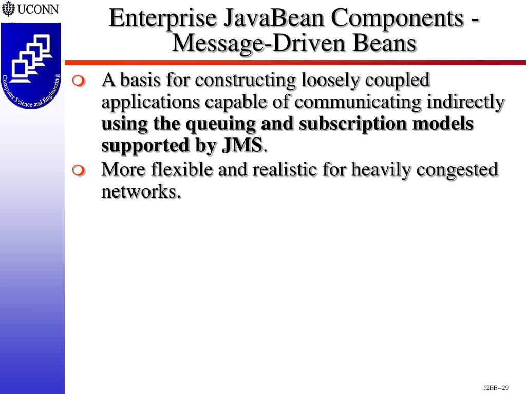 Enterprise JavaBean Components - Message-Driven Beans