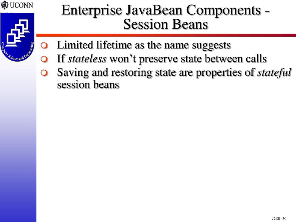 Enterprise JavaBean Components - Session Beans
