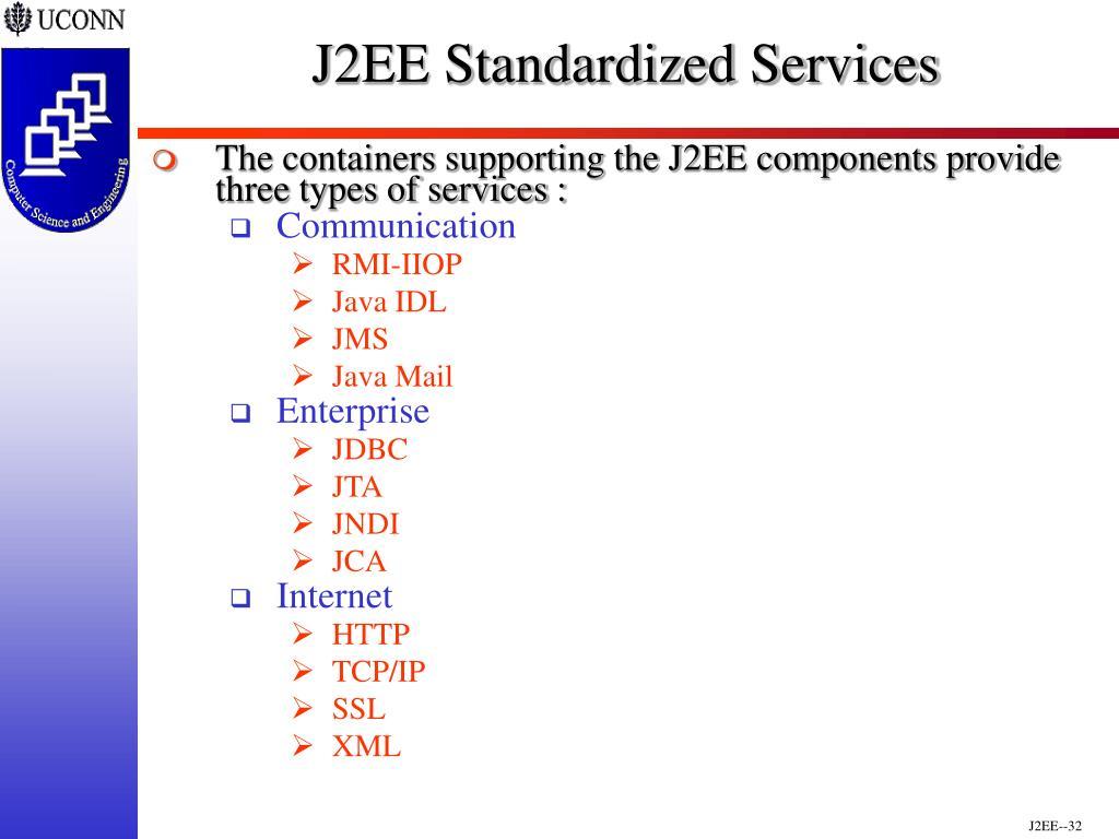 J2EE Standardized Services
