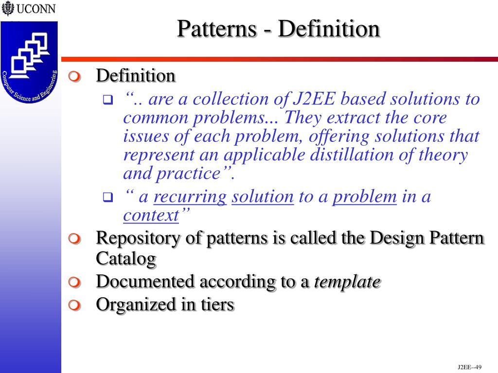 Patterns - Definition