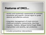 features of imci1