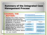 summary of the integrated case management process10