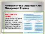 summary of the integrated case management process11