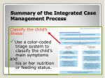 summary of the integrated case management process2