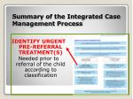 summary of the integrated case management process4