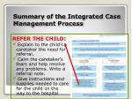 summary of the integrated case management process6