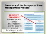 summary of the integrated case management process8