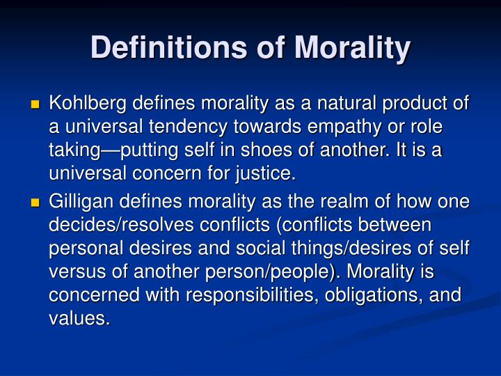 Definitions of Morality