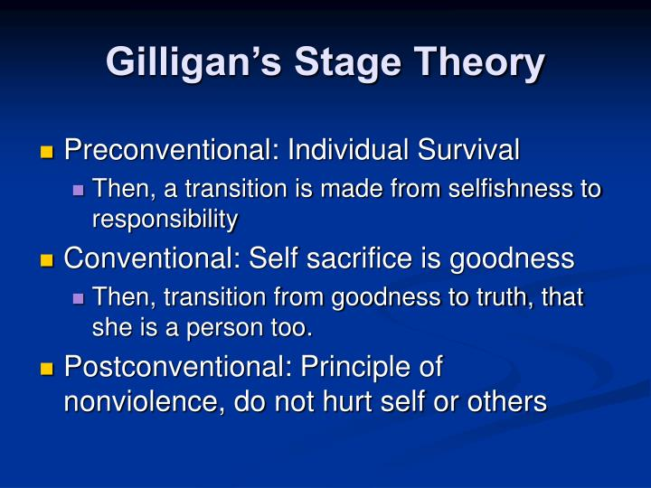 Gilligan's Stage Theory