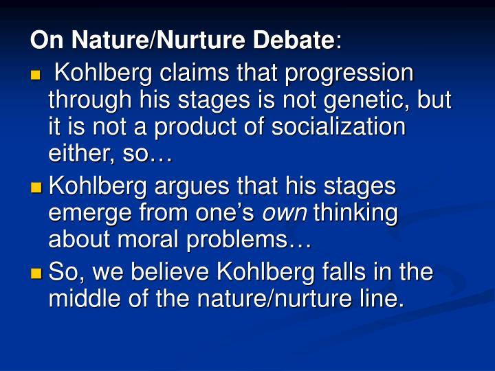 On Nature/Nurture Debate