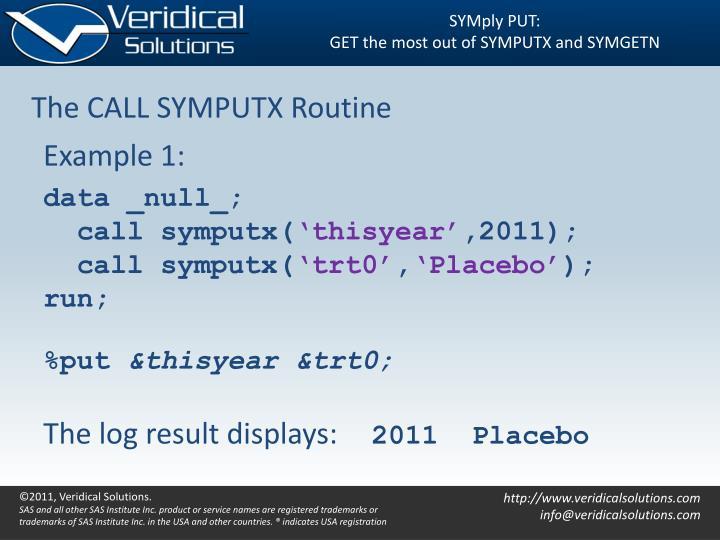 SYMply PUT:
