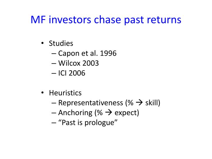 MF investors chase past returns