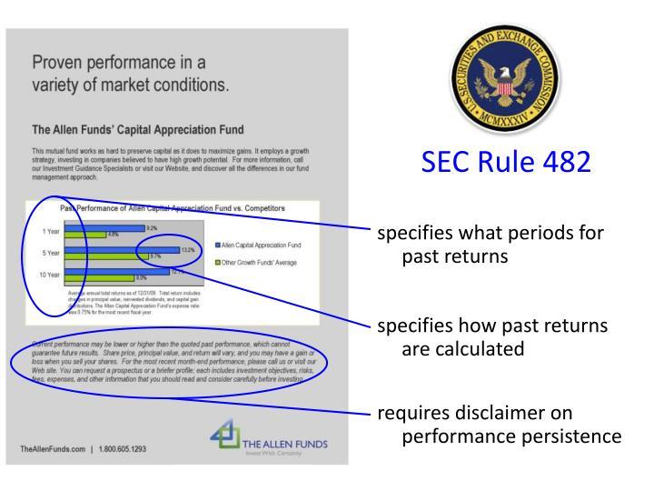 SEC Rule 482