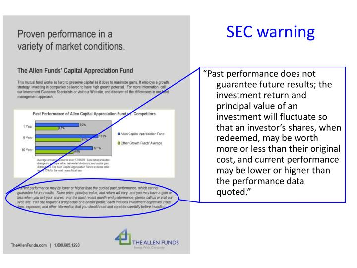 SEC warning