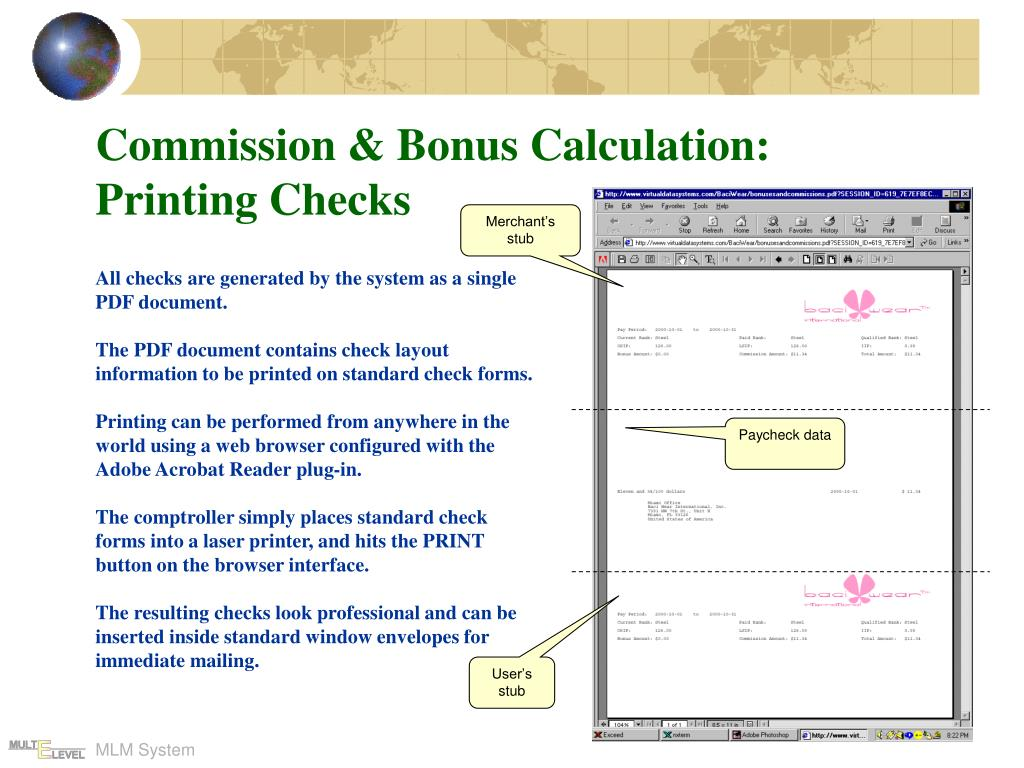 Commission & Bonus Calculation: