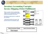 inventory accounting concepts invoice shipping order fulfillment