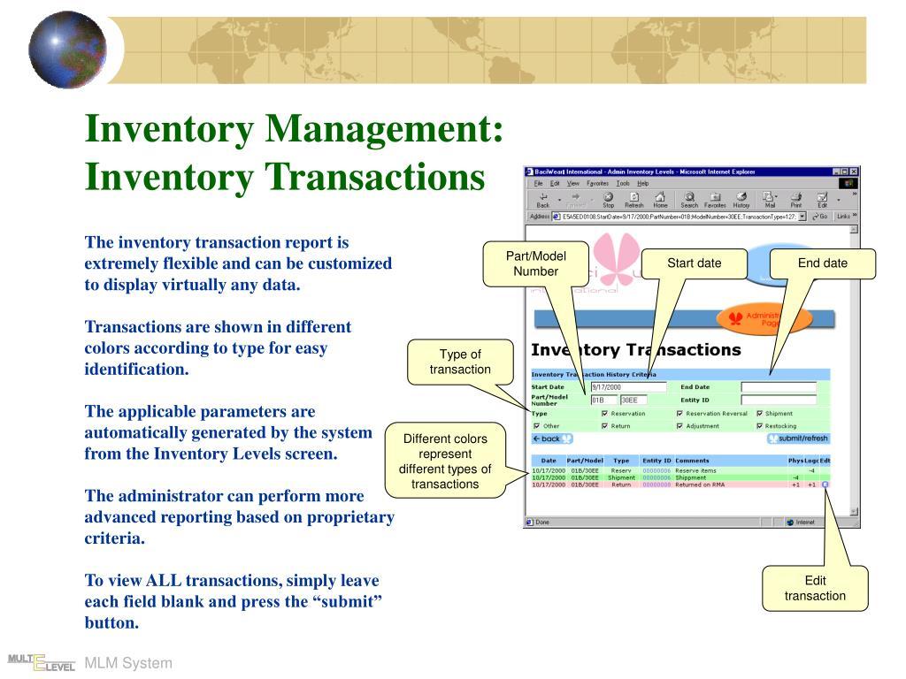Inventory Management: