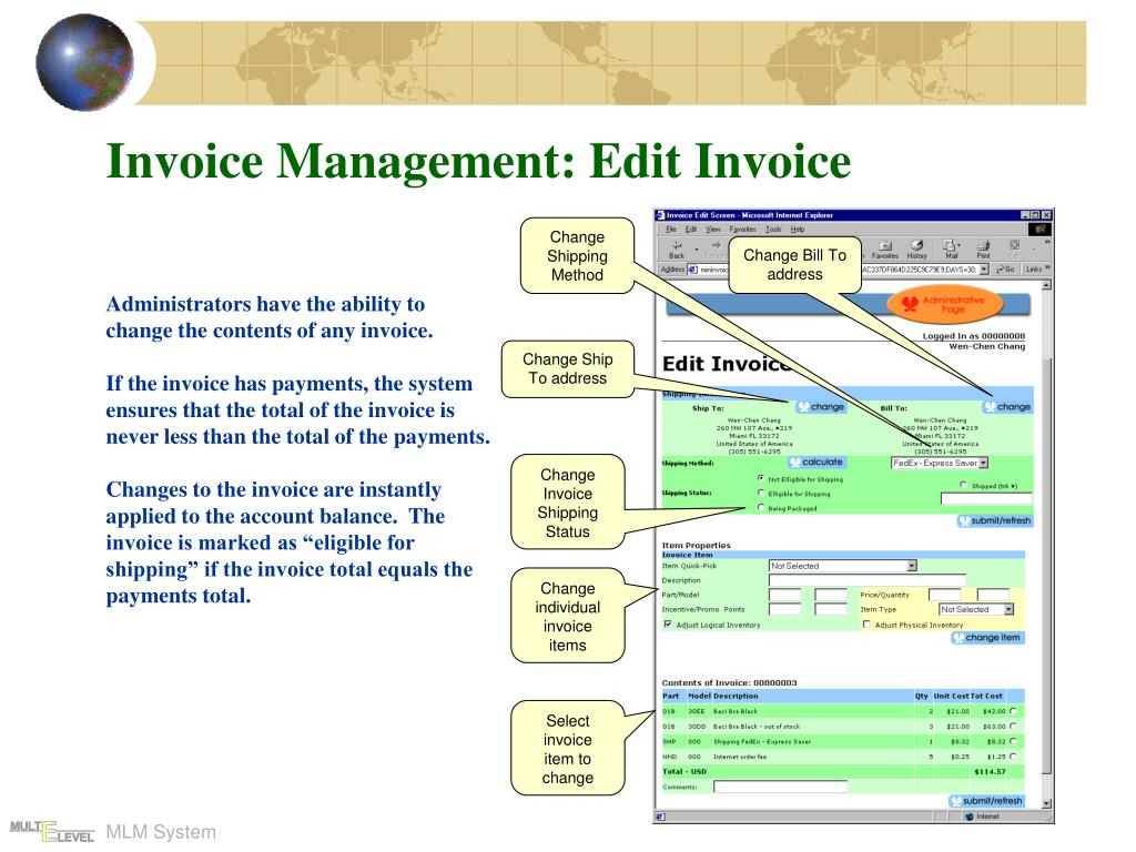 Invoice Management: Edit Invoice
