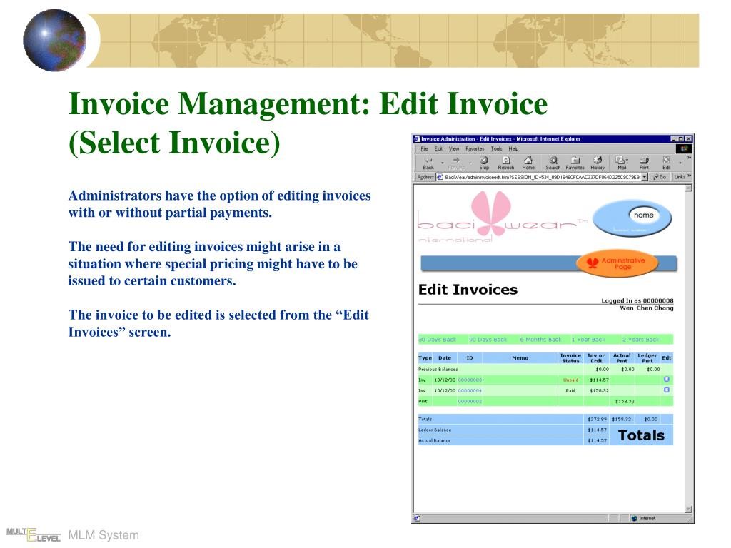 Invoice Management: Edit Invoice