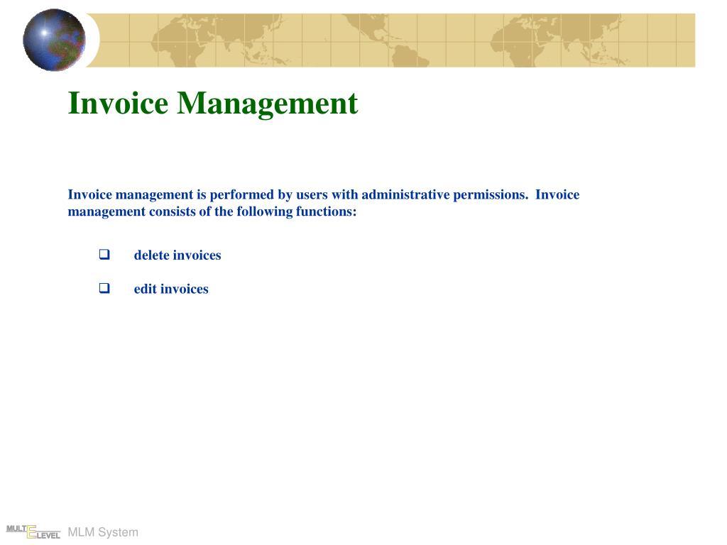 Invoice Management