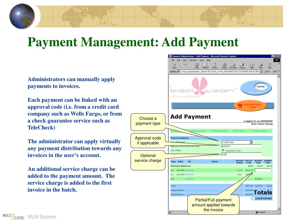 Payment Management: Add Payment
