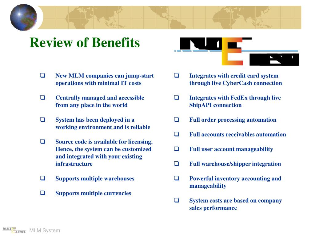 Review of Benefits