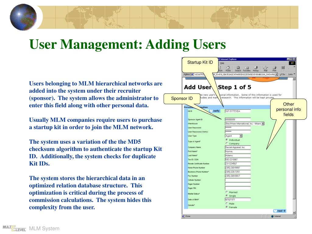 User Management: Adding Users