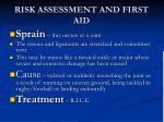 risk assessment and first aid1