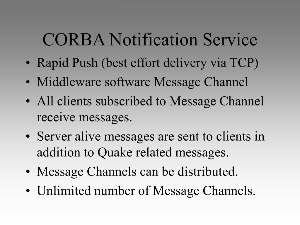 CORBA Notification Service