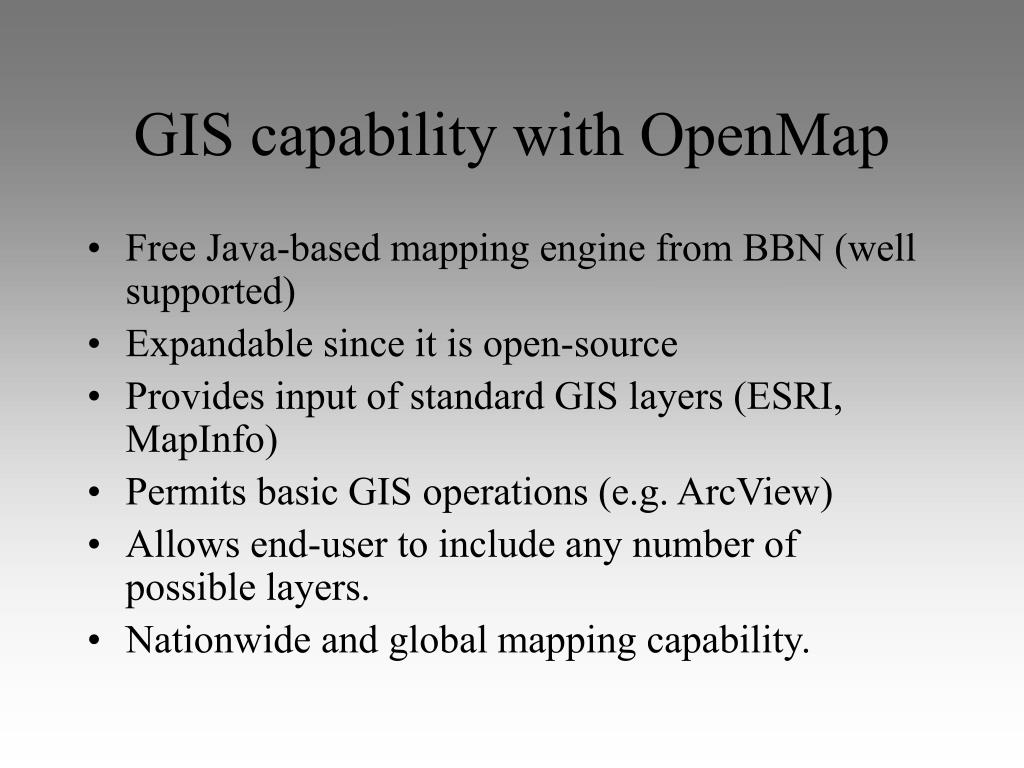 GIS capability with OpenMap
