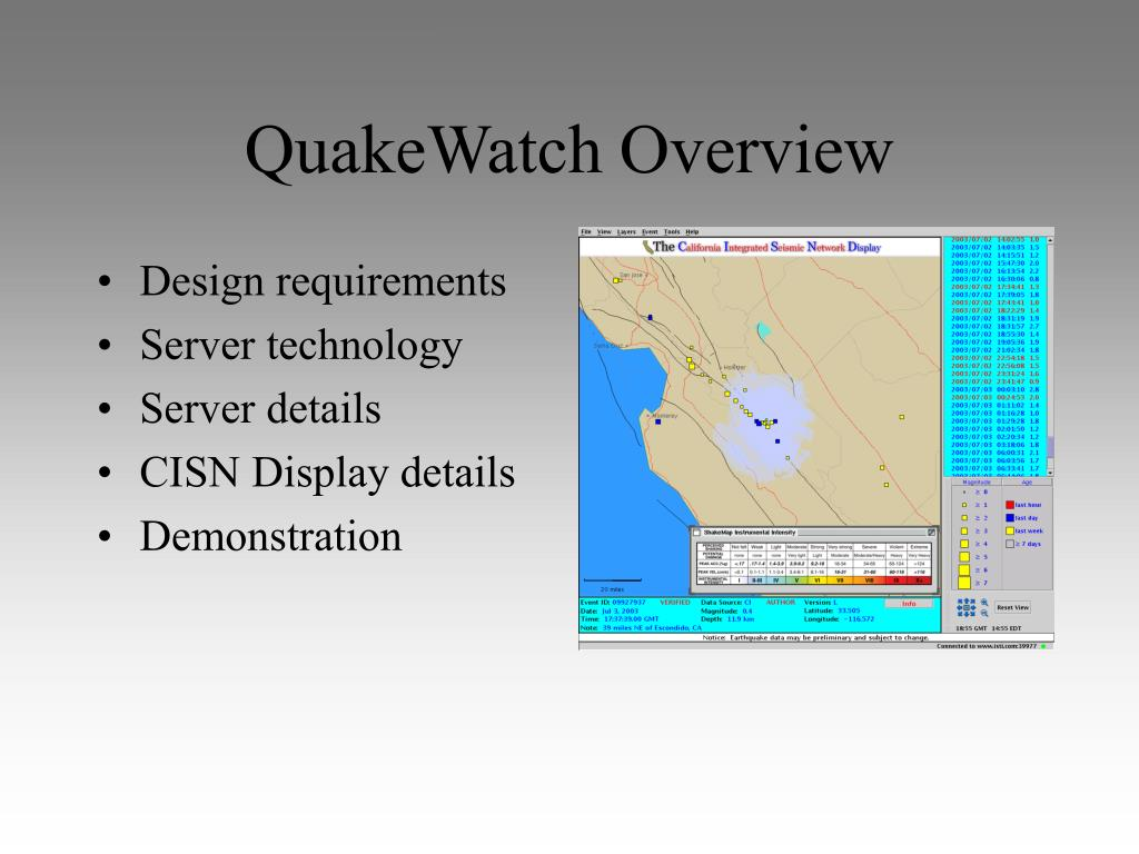 QuakeWatch Overview