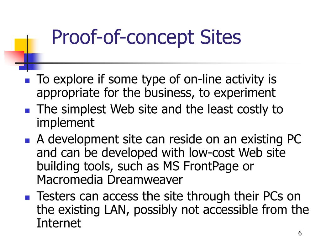 Proof-of-concept Sites