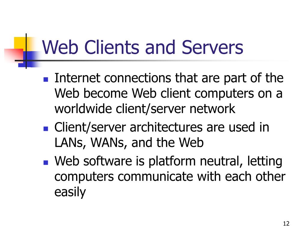 Web Clients and Servers