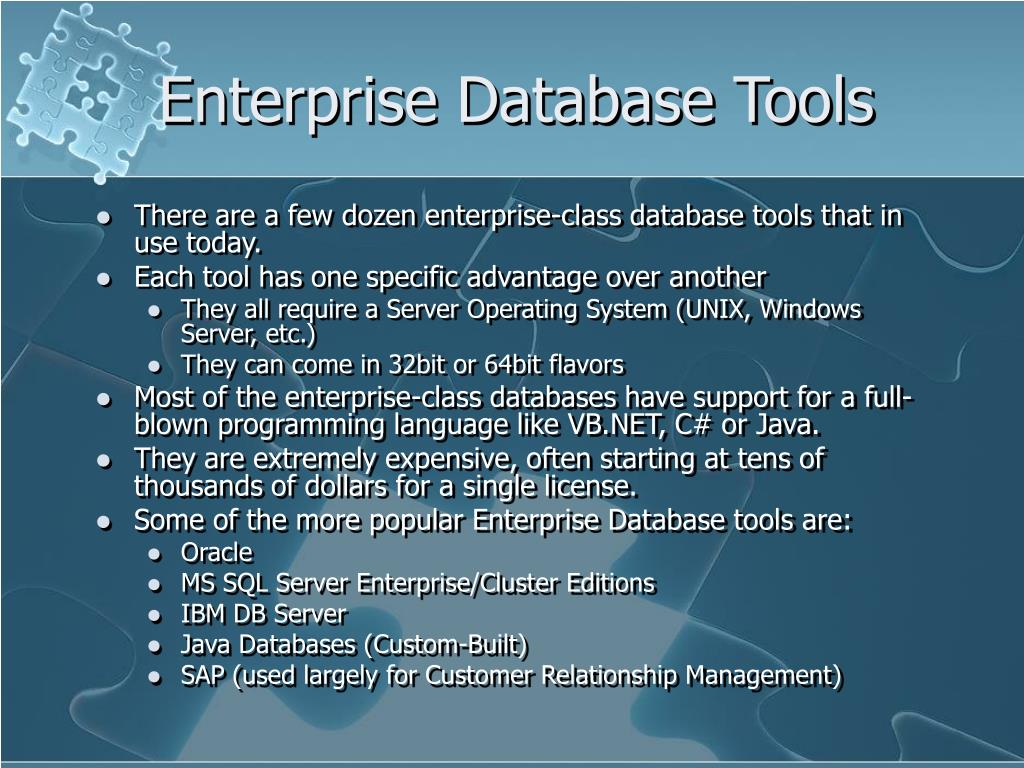 Enterprise Database Tools