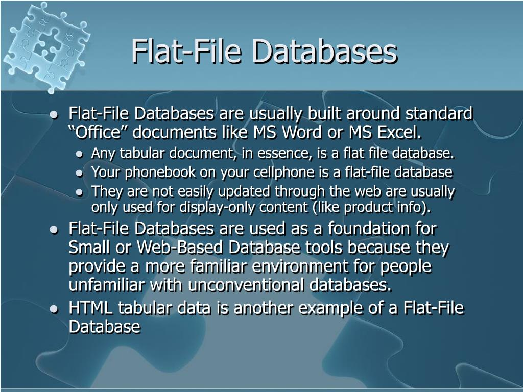 Flat-File Databases