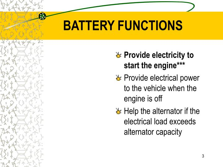 Battery functions
