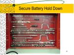 secure battery hold down
