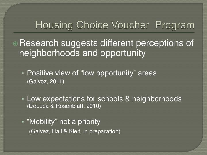Housing Choice Voucher  Program