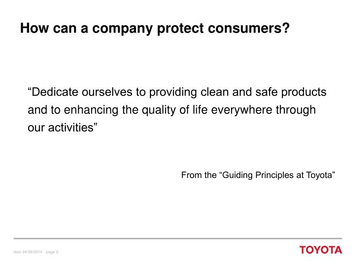 How can a company protect consumers?