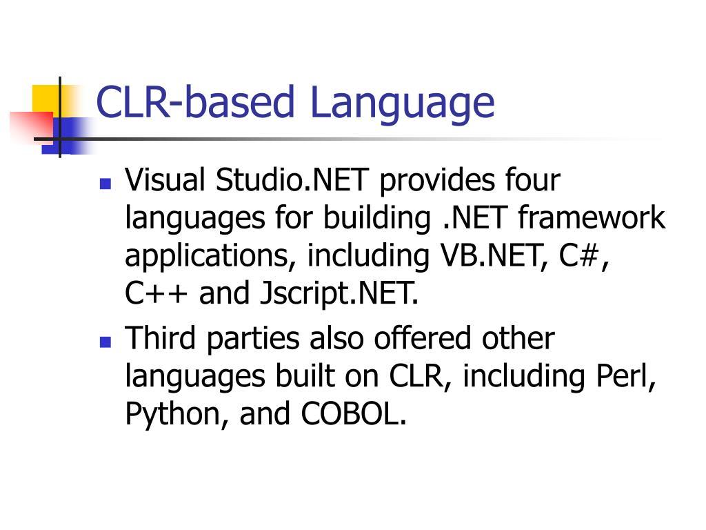 CLR-based