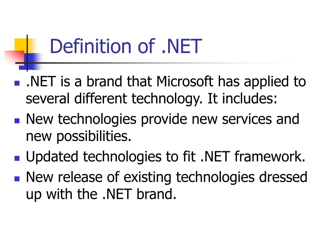 Definition of .NET