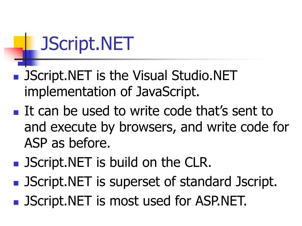 JScript.NET