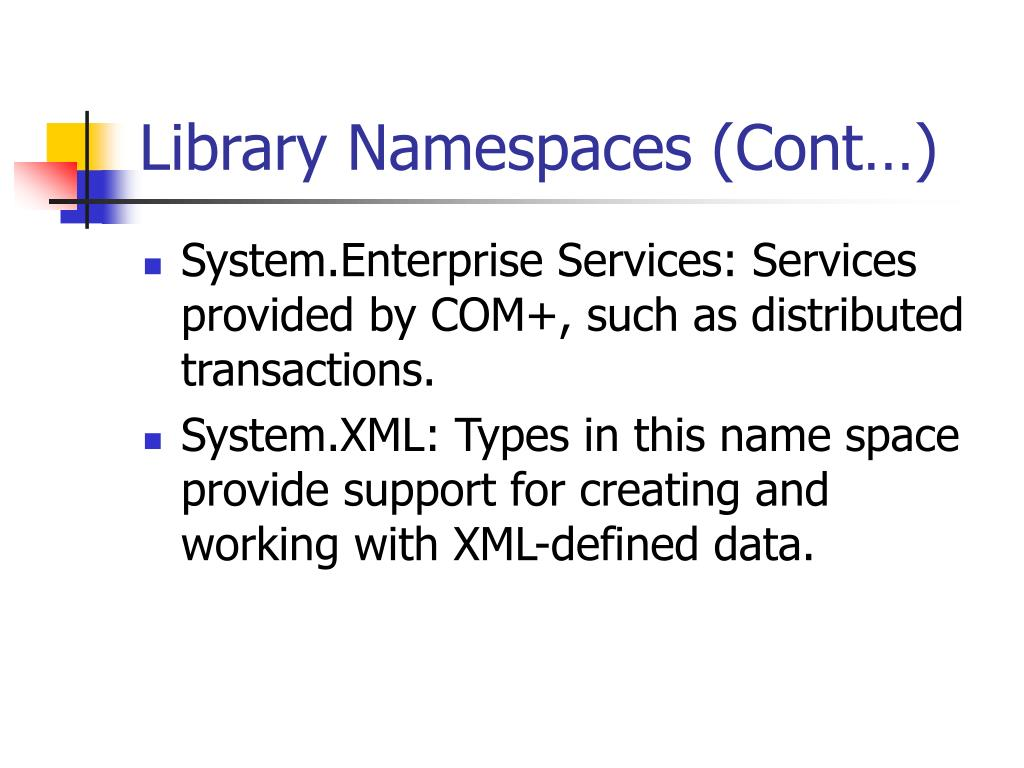 Library Namespaces (Cont…)
