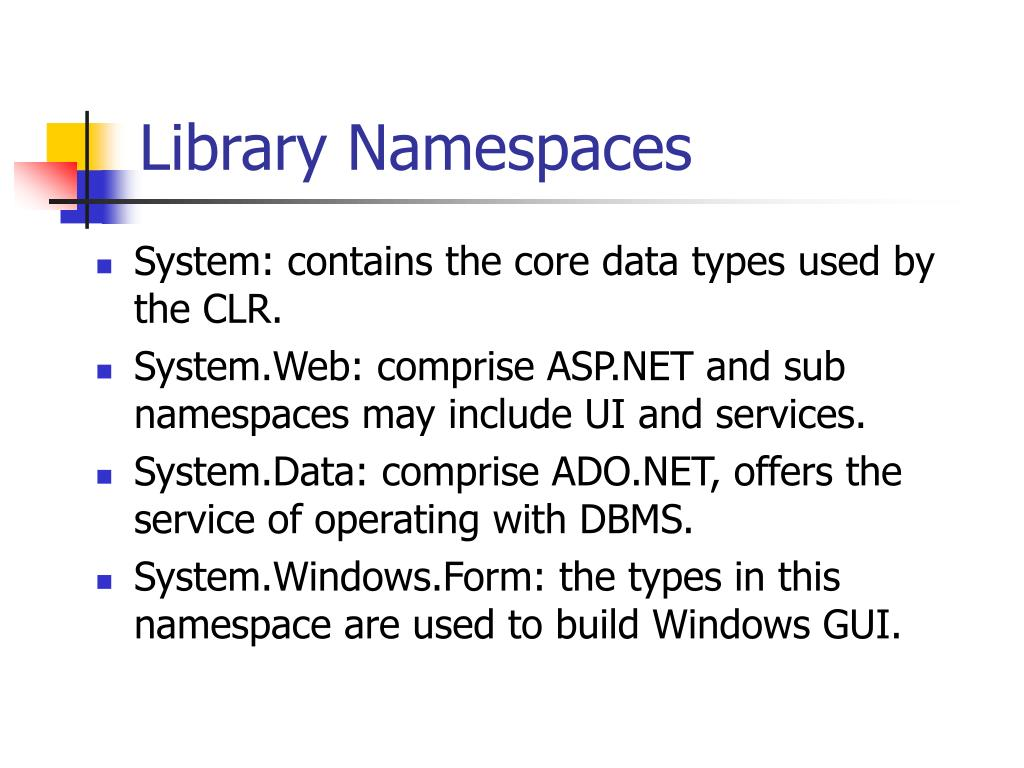 Library Namespaces