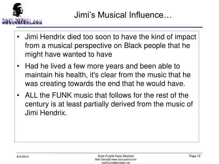 Jimi's Musical Influence…