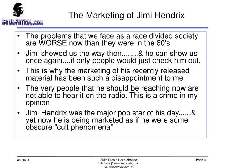 The Marketing of Jimi Hendrix
