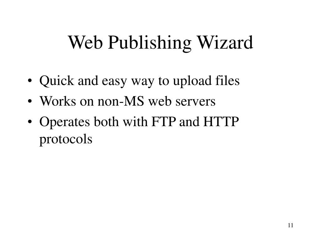 Web Publishing Wizard
