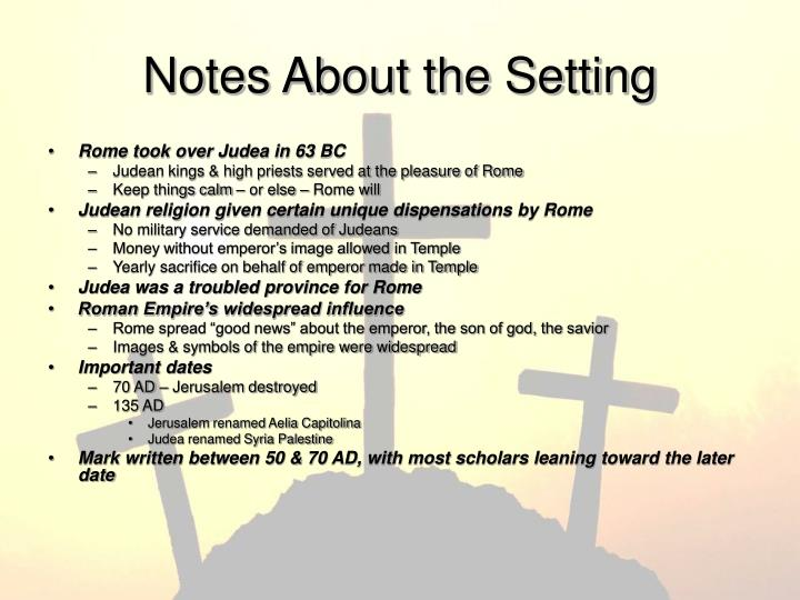 Notes About the Setting