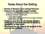 notes about the setting1